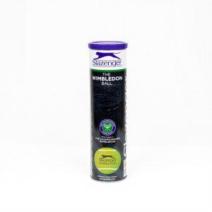 Slazenger Wimbledon Tennis Ball 4 Ball Tube Front