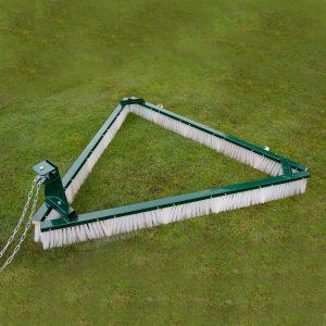 Triangular Towed Drag Brush for Artificial Grass
